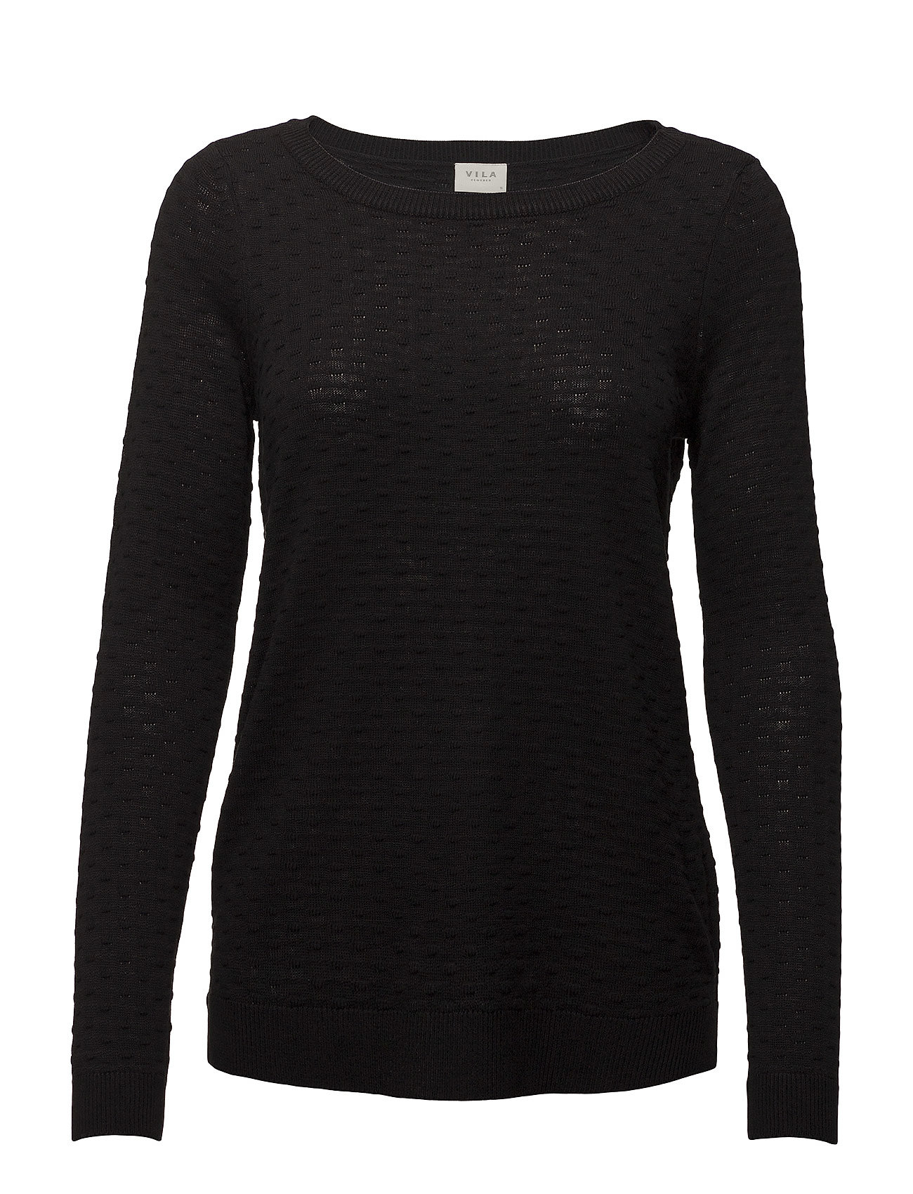 Vila VISARAFINA KNIT TOP - NOOS - BLACK