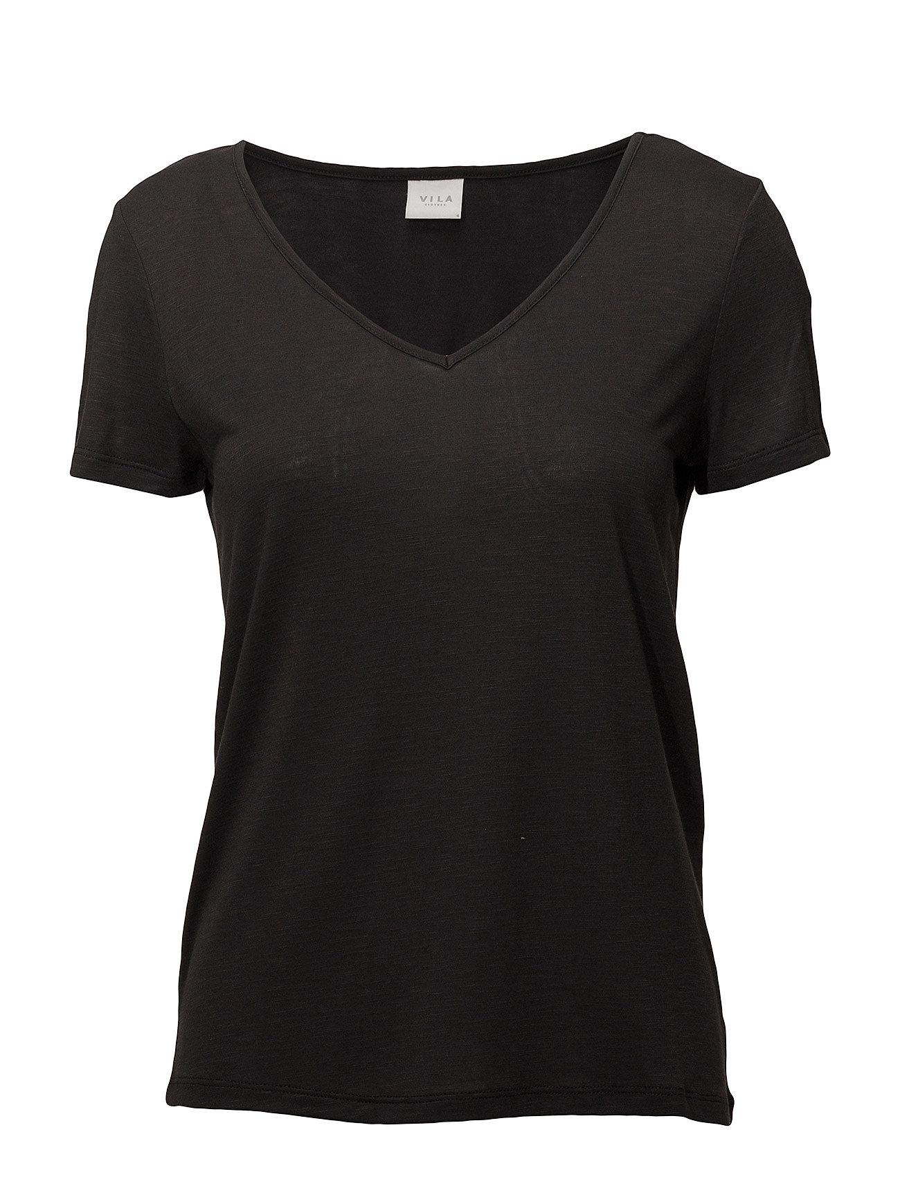 s Vinoel T S V noosblackVila neck shirt 3q4Lcj5RA