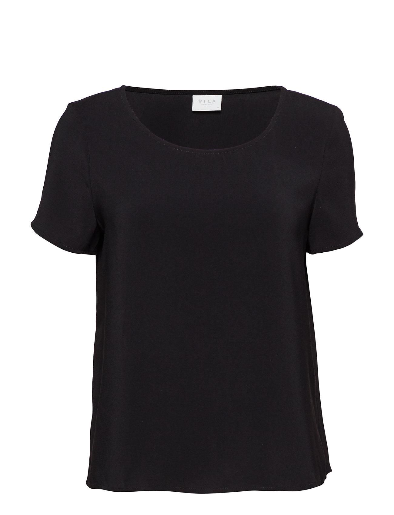 Vilaia SS Top Noos T shirt Top Sort Vila