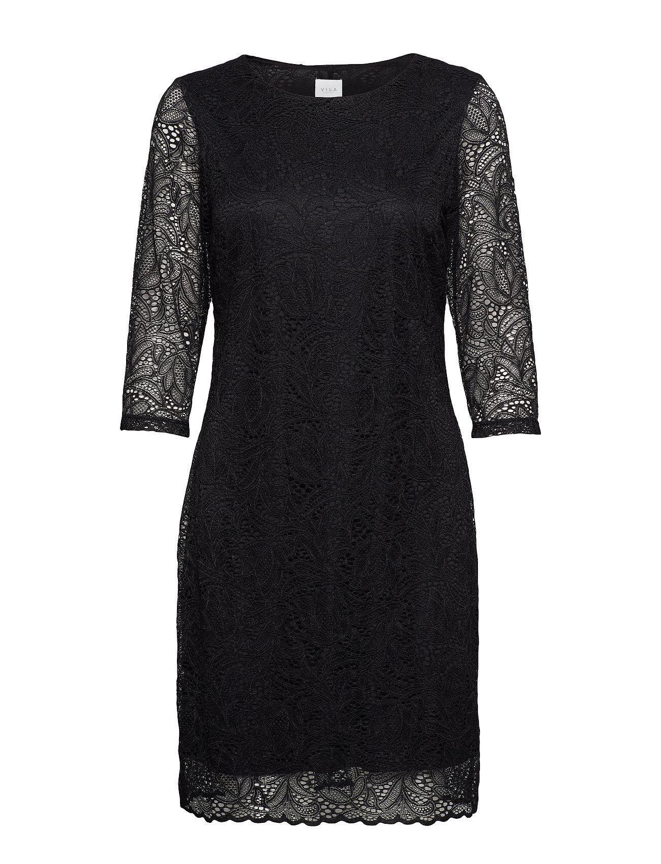 Vila VIBLOND 3/4 SLEEVE DRESS - NOOS - BLACK