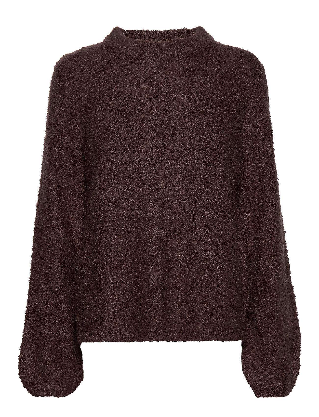 Vila VIBOSSA KNIT L/S FUNNEL NECK TOP TB KI - PUCE