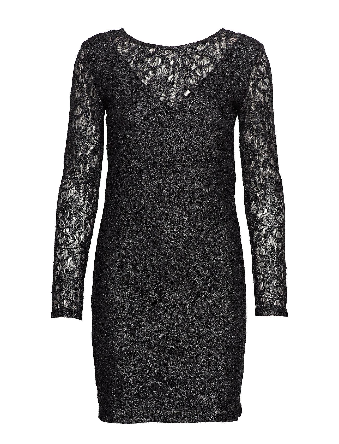 Vila VIVISTIN L/S DRESS/KI - BLACK