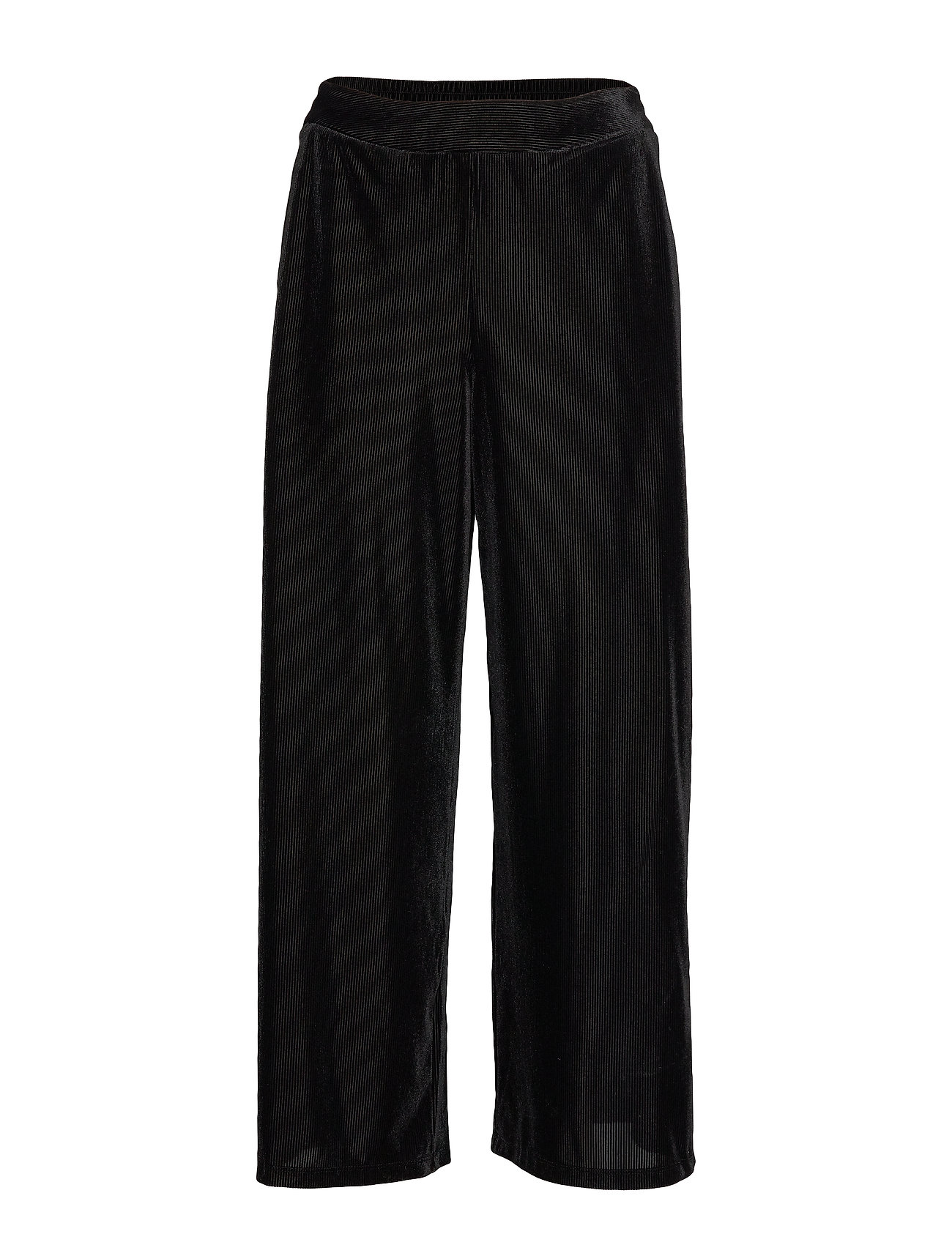 Vila VIBIANA HWRX 7/8 WIDE PANTS - BLACK