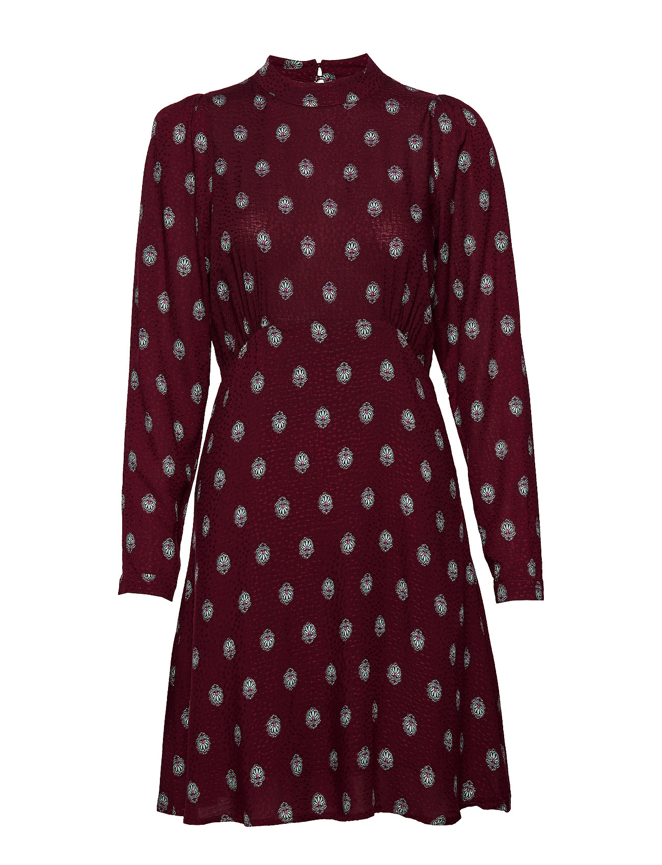 Vila VIRIKOADIGITALIS L/S DRESS - TAWNY PORT