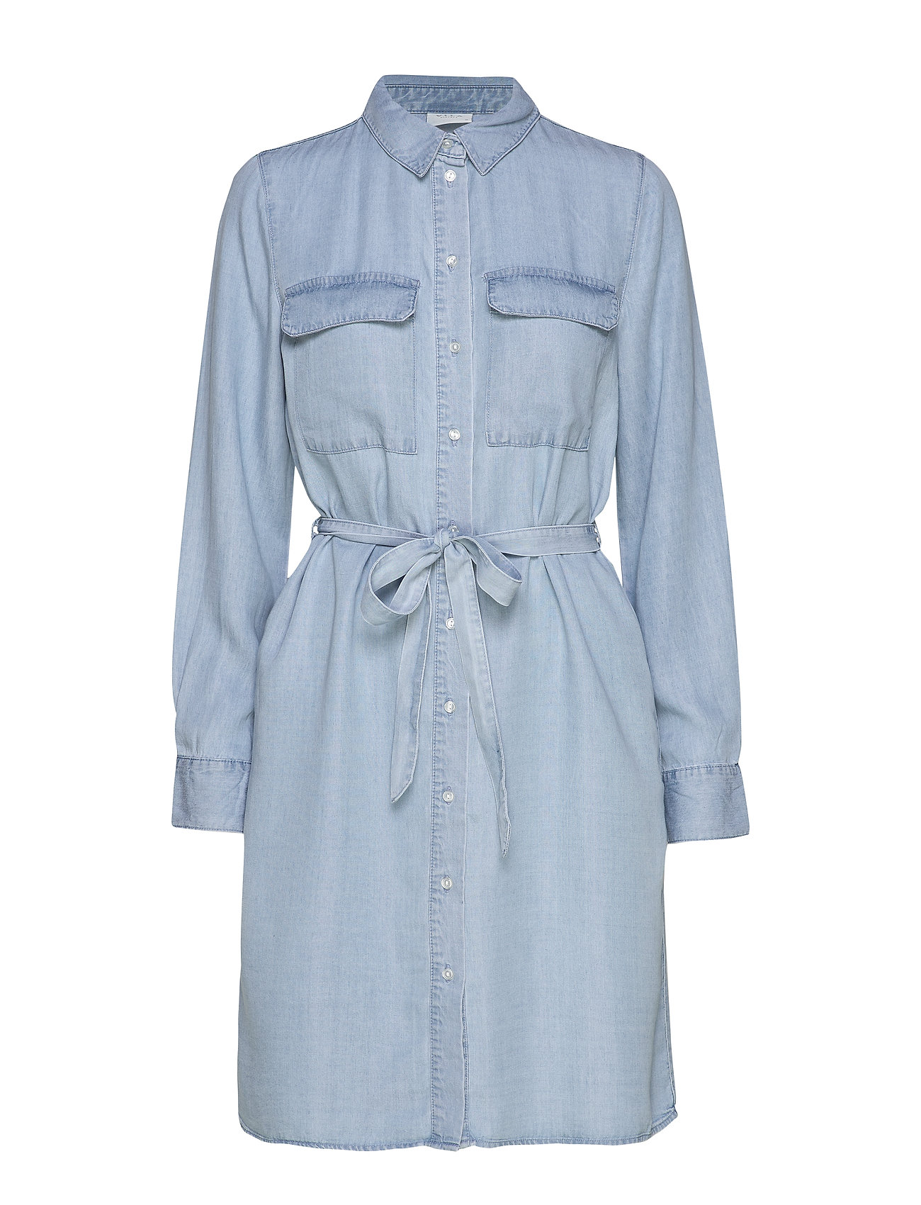 Vila VIGIA L/S SHIRT DRESS/L - LIGHT BLUE DENIM