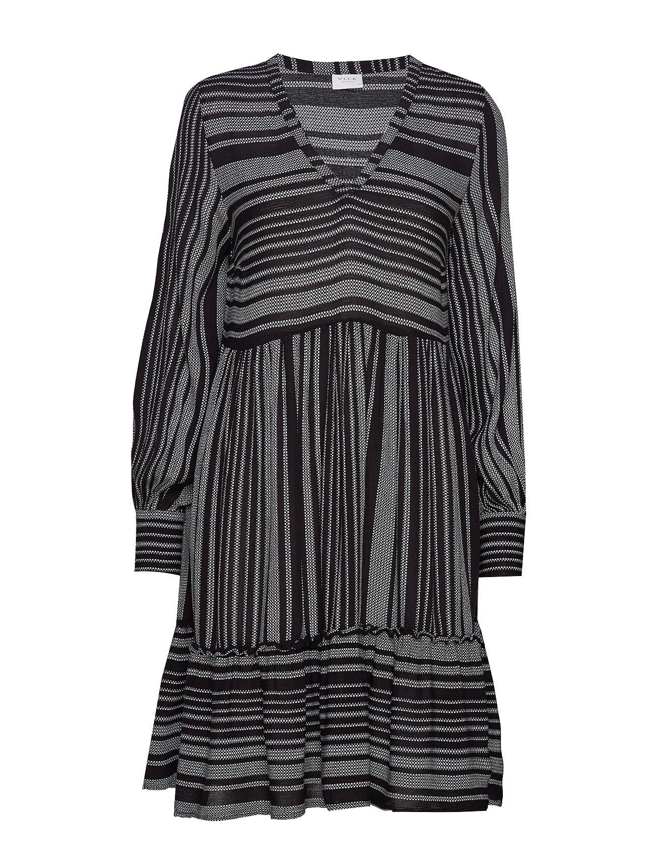 Vila VIEXO L/S DRESS /RX - BLACK