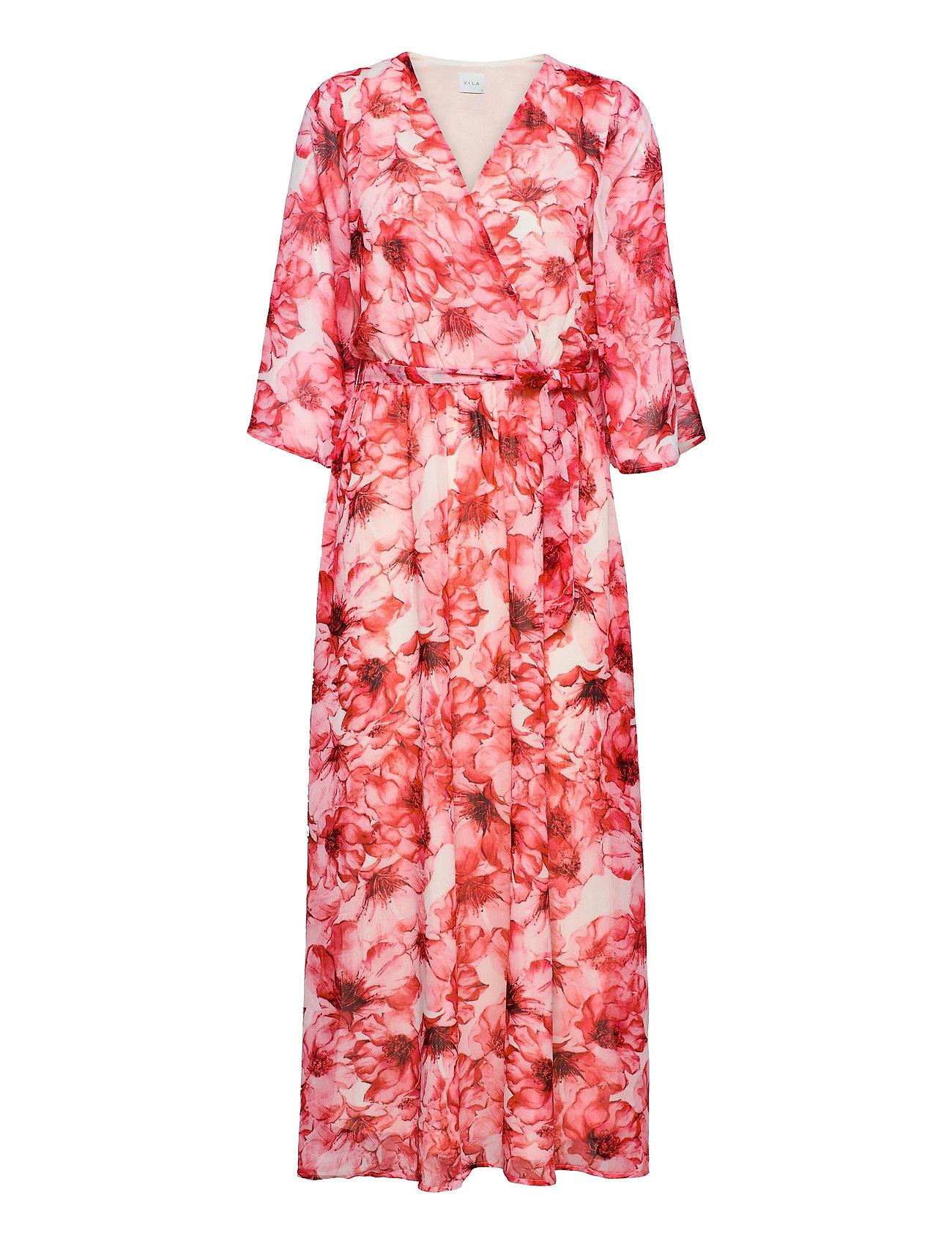 Vialivia 3/4 Ankle Dress/Dc Dresses Wrap Dresses Rød Vila
