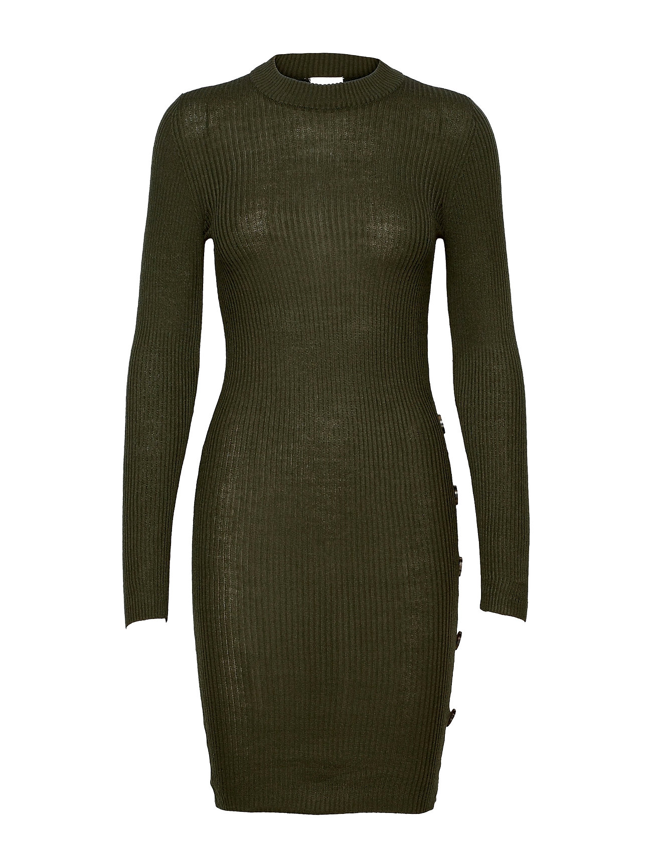 Vimegan L/S Bodycon Knit Dress/Ka Dresses Bodycon Dresses Grøn Vila