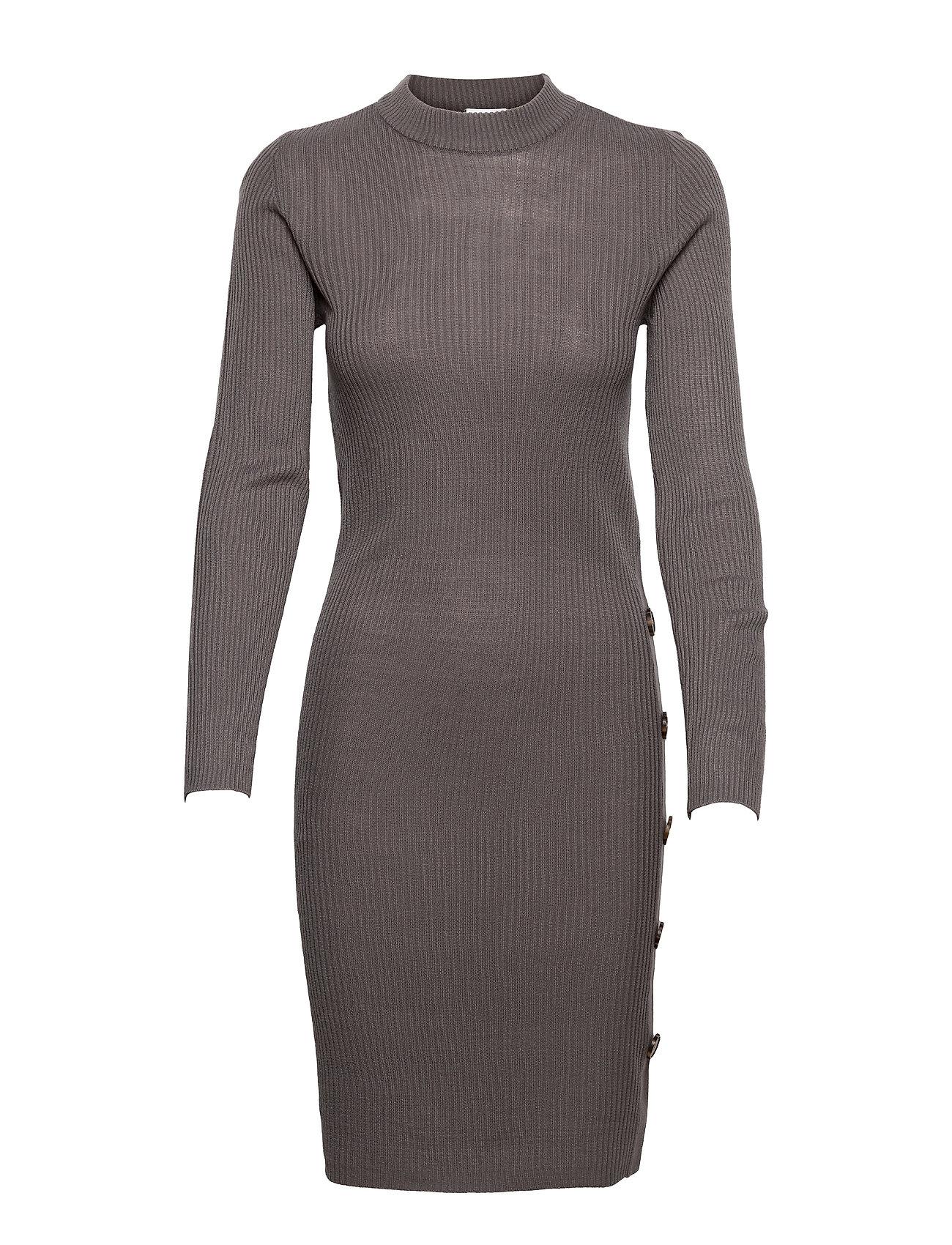 Vimegan L/S Bodycon Knit Dress/Ka Dresses Bodycon Dresses Grå Vila