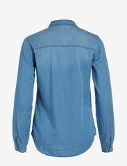 Vila - VIBISTA DENIM SHIRT/SU-NOOS - long-sleeved shirts - medium blue denim - 1