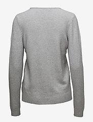 Vila - VIRIL V-NECK L/S  KNIT TOP - NOOS - jumpers - light grey melange - 1