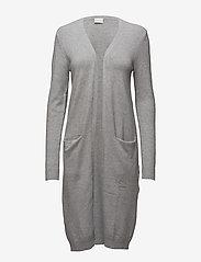 Vila - VIRIL LONG L/S  KNIT CARDIGAN - NOOS - cardigans - light grey melange - 0