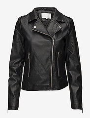 Vila - VICARA COATED JACKET/SU - NOOS - leather jackets - black - 0
