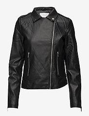 Vila - VICARA COATED JACKET/SU - NOOS - leather jackets - black - 1