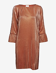 Vila - VIPARTA 3/4 DRESS - midi dresses - redwood - 0