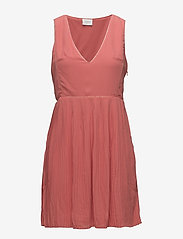 Vila - VILILLA S/L DRESS - midi dresses - spiced coral - 0