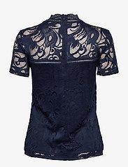 Vila - VISTASIA LACE S/S TOP - NOOS - t-shirts - navy blazer - 1