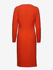 Vila - VISEALO L/S KNOT DRESS - midi dresses - cherry tomato - 1