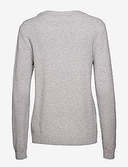 Vila - VIRIL O-NECK L/S  KNIT TOP - NOOS - jumpers - light grey melange - 1