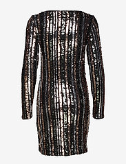 Vila - VIBEADO L/S STRIPE DRESS/DES - short dresses - black - 1