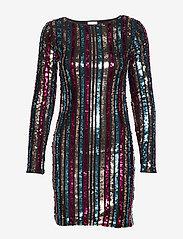 Vila - VIBEADO L/S STRIPE DRESS/DES - short dresses - black - 0