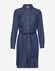 Vila - VIBISTA DENIM BELT DRESS/SU - NOOS - skjortekjoler - dark blue denim - 0