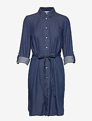 Vila - VIBISTA DENIM BELT DRESS/SU - NOOS - shirt dresses - dark blue denim - 2