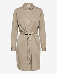 Vila - VIBISTA DENIM BELT DRESS/SU - - blousejurken - simply taupe - 0