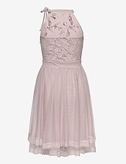 Vila - VIZINNA NEW S/L DRESS- - blondekjoler - pale mauve - 1