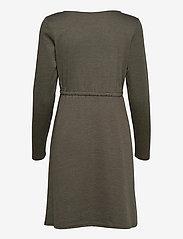 Vila - VIJUNER L/S DRESS  - NOOS - midi kjoler - forest night - 1