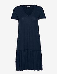 Vila - VIPLISS S/S DRESS - midi dresses - navy blazer - 0