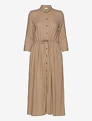 Vila - VISAFARI MIDI 3/4 DRESS - shirt dresses - nomad - 0