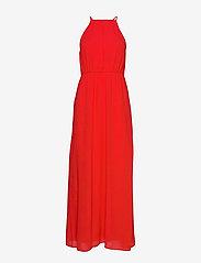 Vila - VIMICADA  S/L ANCLE DRESS/DC/SU - maxi dresses - flame scarlet - 0