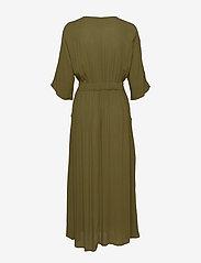 Vila - VIMETAN S/S MIDI DRESS/SU - wrap dresses - dark olive - 1