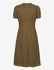 Vila - VICARLINE S/S MIDI DRESS - midi dresses - dark olive - 1