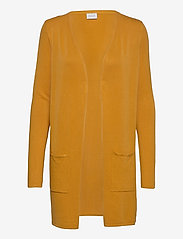 Vila - VIBOLONSIA KNIT POCKET L/S CARDIGAN TB - cardigans - mineral yellow - 0
