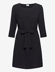 Vila - VIRASHA 3/4 DRESS - midi dresses - black - 0