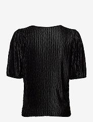 Vila - VIPLEASA 2/4 SLEEVE TOP - t-shirts - black - 1