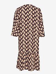 Vila - VIKULLA 3/4 DRESS /RX - midi dresses - navy blazer - 1