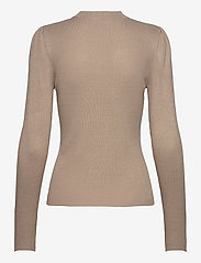 Vila - VIPOPSA KNIT CREW  NECK L/S TOP - jumpers - simply taupe - 1