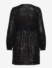 Vila - VILYC L/S SHORT DRESS - paljettkjoler - black - 1