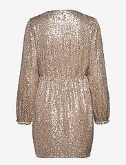 Vila - VILYC L/S SHORT DRESS - paljettkjoler - frosted almond - 1