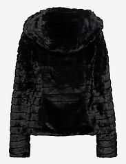 Vila - VIMAYA FAUX FUR JACKET/3 - faux fur - black - 1