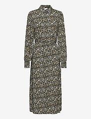 Vila - VITENDI FUNKEL L/S SHIRT DRESS/OFW - alledaagse jurken - black - 0