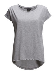 VIDREAMERS PURE T-SHIRT-NOOS - LIGHT GREY MELANGE
