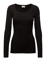 VIOFFICIEL NEW  L/S TOP-NOOS - BLACK