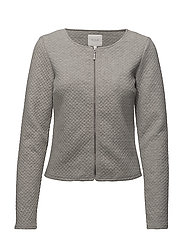 VINAJA NEW SHORT JACKET-NOOS - LIGHT GREY MELANGE