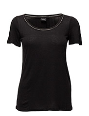VIVOILA S/S DETAIL TOP VOL - BLACK