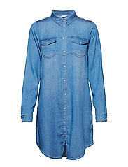 VIBISTA DENIM DRESS-NOOS - MEDIUM BLUE DENIM