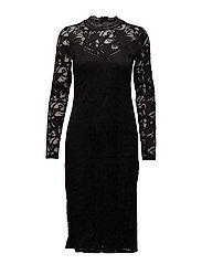 VISTASIA L/S LACE DRESS - BLACK